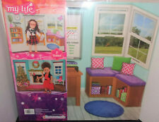"""My Life As Reversible Background 18"""" inch Dolls School Classroom & Christmas New"""