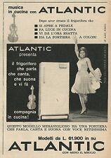 W8477 Frigorifero ATLANTIC - Pubblicità 1963 - Vintage Advert
