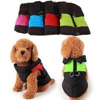 AU_ Warm Pet Dog Puppy Waterproof Clothes Zipper Jacket Winter Vest Wadded Coat