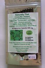Organic Holy Basil 100% - 500mg x 60 Veg Capsules - Tulsi - Bio