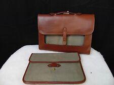 Bloomingdale's Luxury Leather Satchel - Briefcase - Laptop Bag Brown #1655