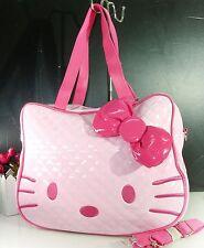 large big hello kitty face head light pink purse bag womens girls cute fashion