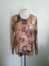 Individual Style! Verge size XL brown & cream top in excellent condition