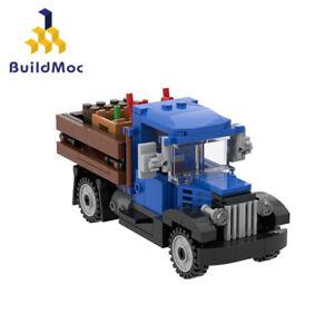 MOC-5823 Delivery Car Building Blocks 1930s Farm Truck Bricks Auto Education Toy