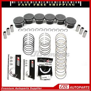 Fits 02-10 Dodge Ram Jeep Liberty Mitsubishi 3.7L Pistons & Rings Bearing Set