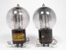 Western Electric 205D Tennis Ball Tube Matched Pair Amplitrex Tested (Test 122%)