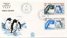 FDC / T.A.A.F. TERRES AUSTRALES TIMBRE N° 105/108 / FAUNE /