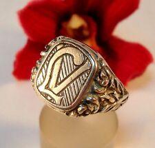 Sello masivas anillo 800 plata con monograma LV o VL dedo anillo/bl 158