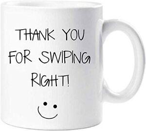 CiderPressMugs® Thank You for Swiping Right Mug Boyfriend Husband Girlfriend