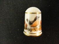 1979 Franklin Porcelain Bird Thimble Turdus Migratorius
