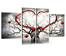 Large Modern Abstract Oil Painting on Canvas Handmade Wall Decor Art Tree #H07