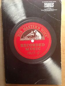 HIS MASTERS VOICE' RECORDED MUSIC 1948-9