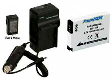 Battery + Charger for Samsung HMXU100UN HMXU100SN WB700