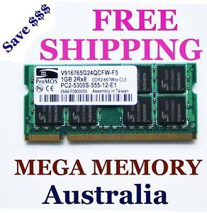 ProMOS 1GB DDR2 PC2-5300 Sodimm 667MHz LAPTOP Memory