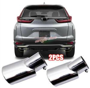 For HONDA CR-V 2020 2021 EX LX Stainless Rear Exhaust Muffler Tip End Pipe 2PCS