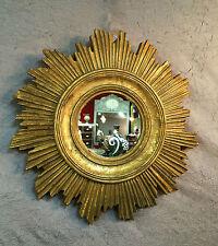 Glace / miroir soleil doré en résine de style années 1970 Diamètre 45 cm
