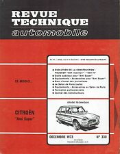 REVUE TECHNIQUE AUTOMOBILE 330 RTA 1973 CITROEN AMI SUPER PEUGEOT 504 I & 504 TI