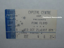 PINK FLOYD Concert Ticket Stub 1987 CAPITAL CENTRE David Gilmour LANDOVER MD