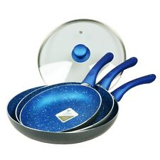 Frypan Set, 3pc with 28cm lid,Blue Stone Non-Stick induction,Frying Pan,Fry Pan