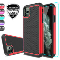 For iPhone 11 Pro Max Shockproof Hybrid Armor Phone Case Cover +Screen Protector