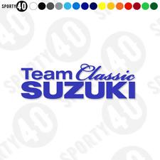 Team Classic SUZUKI -  Vinyl Decals / Stickers -  3124-0919