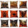 EG_ Halloween Horror Castle Witch Waist Cushion Cover Pillowcase Home Decor Sala
