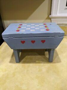 "Vintage step stool 8.75"" h x 12"" w x 7"" d"