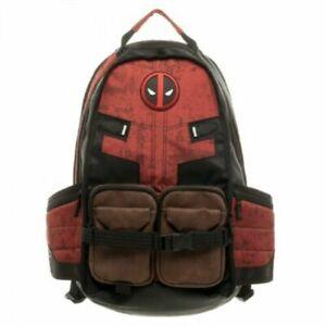 New Marvel Comic Deadpool Backpack Laptop Travel Bag SchoolBags Cosplay Bag