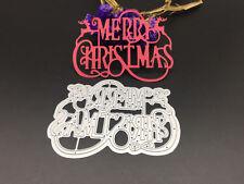 Merry Christmas Deer Reindeer Metal Cutting Dies Scrapbooking Embossing Craft