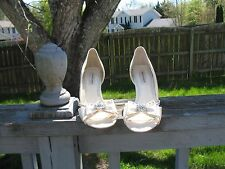White Satin Benjamin Adams London shoes Size 37.5 or 7
