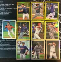 2019 Bowman Heritage Gold Silver Refractor Numbered HUGE 10 Card Lot NO DUPES
