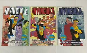 Invincible TPB Lot Volumes 1 2 3 Family Matters Eight Is Enough Perfect Stragers