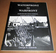 Signed WATERFRONT WARFRONT BURRARD DRY DOCK SHIP BOAT VANCOUVER BRITISH COLUMBIA