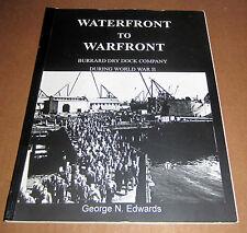Signd WARFRONT WATERFRONT BURRARD DOCK SHIP BOAT VANCOUVER BRITISH COLUMBIA NAVY