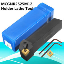 MCGNR2525M12 25x25mm Lathe Turning Holder Tool+ Spanner For CNMG/CNMM1204 Insert