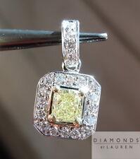 .32ct Fancy Yellow SI1 Cushion Cut Diamond Pendant GIA R4889 Diamonds by Lauren