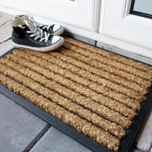 Classic Coir & Rubber Door Mat   Heavy Duty Non Slip Mats for Outside   Doormats