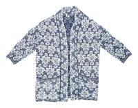 White Stuff Womens Size 12 Cotton Blend Blue Cardigan (Regular)