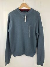 Tommy Hilfiger mens blue knit sweater jumper small flag logo size S Small🧩New