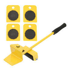 Furniture Transport Set Yellow Lifter Moving Plate for Heavy Objects Bearings