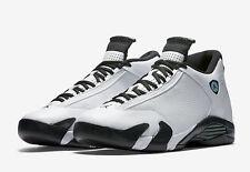2016 Nike Air Jordan 14 XIV Retro BG OG SZ 4Y White Oxidized Green 487524-106