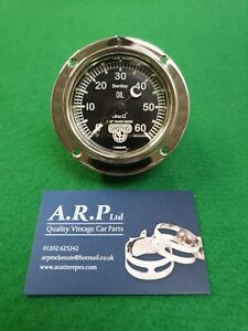 Vintage Bentley Oil Gauge (0-60PSI) also 0-100psi available