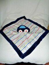 Security Blanket CAR Blue Baby Lovey Stuffed Plush Colorful Polka Dot Kids Line