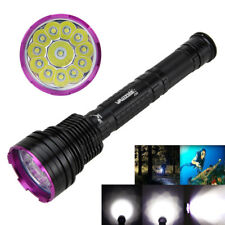 30000Lumen 12X XM-L T6 LED Scuba Diving Flashlight Fishing Torch Underwater 150m