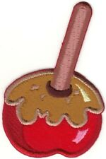 """3.75"""" Caramel Apple Halloween embroidery patch"""