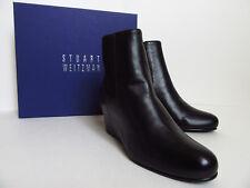 NWB Stuart Weitzman Nusocks Wedge Booties (Black Nappa; Size 7.5M) US$450
