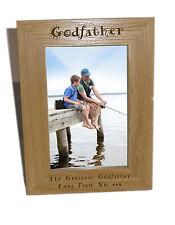 PADRINO legno Photo Frame 6x8-personalizzare questo riquadro-INCISIONE GRATUITA