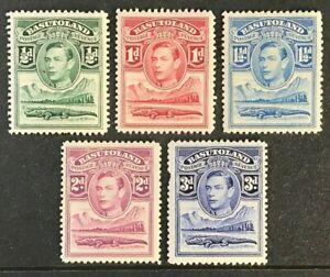 BASUTOLAND Sc#18-22 1938 KGVI Mint Hinge remnant OG F/VF (15-148)