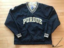 Vintage Champion Purdue Boilermakers Pullover Jacket Windbreaker Mens Sz L Black