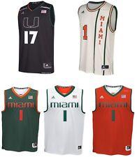 Adidas Men's NCAA Miami Hurricanes Basketball Jersey Number 1-6-17 NEW